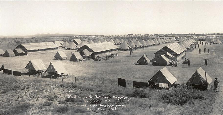border trouble, Arizona history, Arizona historian, AZHistorian, John Larsen Southard, John Southard, Southard, Camp Naco, Pancho Villa, 1916