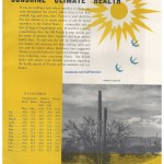 A page from a mid-century Tucson tourism brochure. This page suggests a link between the city's good weather and overall good health.
