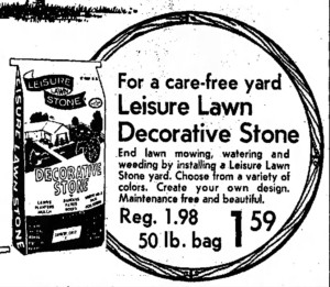 A 1976 Arizona Republic ad for Leisure Lawn Stones.