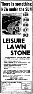A 1968 Arizona Republic ad for Leisure Lawn Stones.