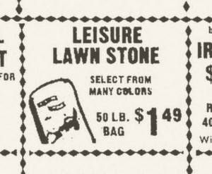 A 1973 Arizona Republic ad for Leisure Lawn Stones.