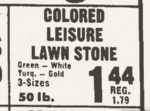 A 1972 Arizona Republic ad for Leisure Lawn Stones.